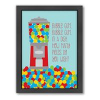 Americanflat Jilly Jack Designs Sweets Gumball Machine 2 Matte Print with Frame