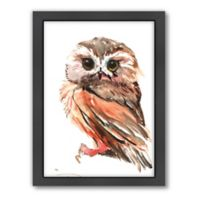 Americanflat Owl 3 Wood-Framed Wall Art