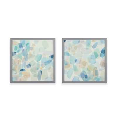 Intelligent Designs Gemstone Tiles Decorative Box Wall Art (Set of 2)