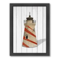 Americanflat Lighthouse Wood-Framed Wall Art
