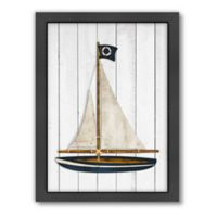 Americanflat Sailboat Wood-Framed Wall Art