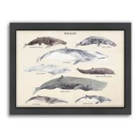 Americanflat Whales Wood-Framed Wall Art