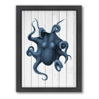 Americanflat Wood Curiosity Octopus Framed Wall Art