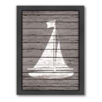 Americanflat Wood Quad Sailboat Wall Art