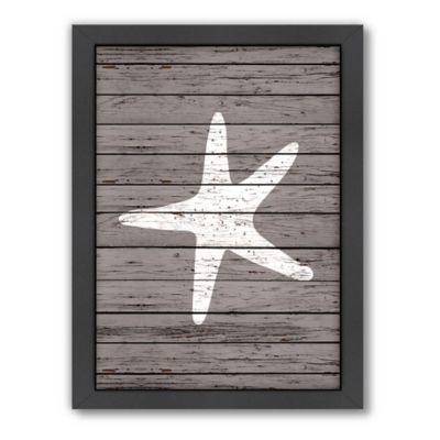 Americanflat Wood Quad Starfish Wall Art