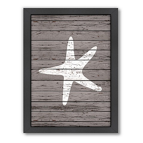 image of Americanflat Wood Quad Starfish Wall Art