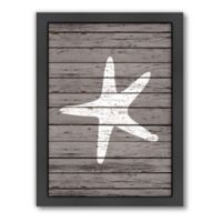 Americanflat Wood Quad Starfish Wall Art