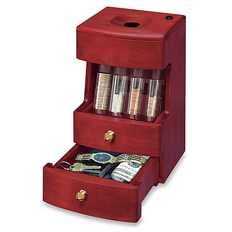 Buy deluxe valet motorized wooden coin sorter from bed Coin sorting bank for kids