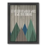 "Americanfal ""Move Mountains"" 2 Wood-Frame Wall Art"