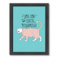 Americanflat Jilly Jack Cat's Pajamas Framed Wall Art