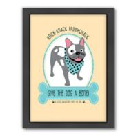 Americanflat Jilly Jack Designs Dog Matte Print with Frame