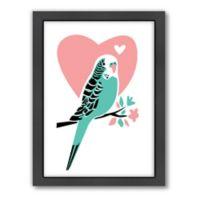 Americanflat Jilly Jack Designs Parakeet 3 Matte Print with Frame