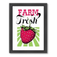 Americanflat Jilly Jack Designs Fruit Strawberry Matte Print with Frame