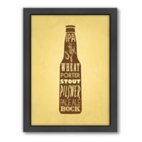 Americanflat KitchenBar Beer Matte Print with Frame