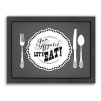 Americanflat Jilly Jack Designs KitchenBar Bon Appetit Matte Print with Frame