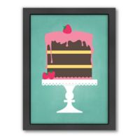 Americanflat Jilly Jack Designs Sweets Cake Matte Print with Frame