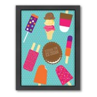 Americanflat Jilly Jack Designs Sweets Ice Cream Matte Print with Frame