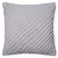 Loloi Basketweave 22-Inch Square Throw Pillow in Grey