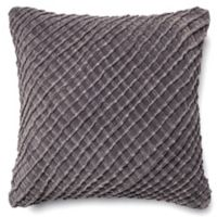 Loloi Basketweave 22-Inch Square Throw Pillow in Charcoal