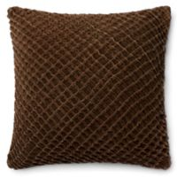 Loloi Basketweave 22-Inch Square Throw Pillow in Brown