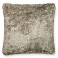 Loloi Solid Faux Fur 22-Inch Square Throw Pillow in Grey