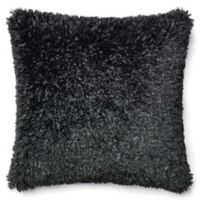 Loloi Shaggy 22-Inch Square Throw Pillow in Black