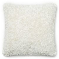 Loloi Shaggy 22-Inch Square Throw Pillow in Bright White