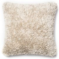 Loloi Shaggy 22-Inch Square Throw Pillow in White