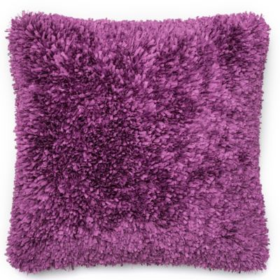 Loloi Shaggy 22 Inch Square Throw Pillow In Purple