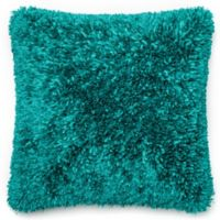 Loloi Shaggy 22-Inch Square Throw Pillow in Peacock