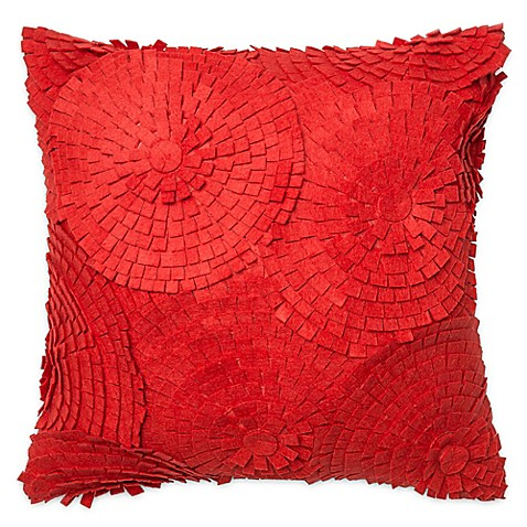 Madison Square 18-Inch Decorative Pillows : Buy Loloi Felt Tags 18-Inch Square Throw Pillow in Red from Bed Bath & Beyond