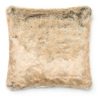 Loloi Acrylic Faux Fur Throw Pillow in Beige