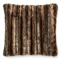 Loloi Faux High-Low Square Throw Pillow in Brown