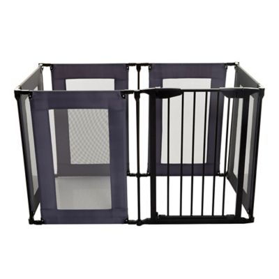 Delicieux Dreambaby® Brooklyn Converta Play Pen Gate In Black/Grey