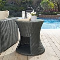 Modway Sojourn Outdoor Patio Side Table in Chocolate
