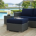 Modway Sojourn Outdoor Ottoman in Navy Sunbrella® Canvas