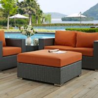 Modway Sojourn Outdoor Square Ottoman in Sunbrella® Canvas Tuscan