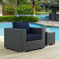 Modway Sojourn Outdoor Armchair in Sunbrella® Canvas Navy