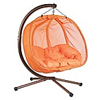 Loveseat Hanging Chair with Stand in Orange