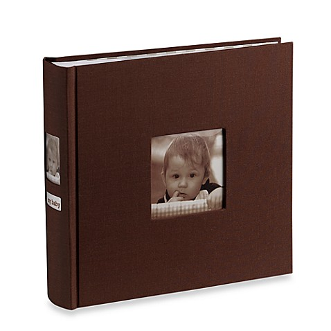 Side Photo Baby Album in Chocolate