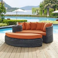 Modway Summon 2-Piece Outdoor Wicker Daybed in Sunbrella® Canvas Tuscan