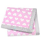 "Gerber® ""Sweet Baby"" Hearts Plush Blanket in Pink"