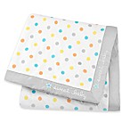 "Gerber® ""Sweet Baby"" Dots Plush Blanket in Teal"