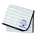 "Gerber® ""Hello Little One"" Whale Plush Blanket in Blue"
