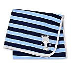 Gerber® Striped Giraffe Plush Blanket in Blue