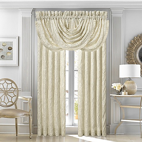 J Queen New York Marquis Rod Pocket Window Curtain Panel Pair And Valance Bed Bath Beyond
