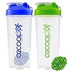 O2COOL® 2-Piece 30 oz. Protein Shaker Bottle Set in Blue/Green