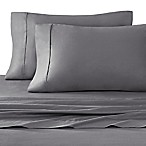 Stay Tuck 450-Thread-Count Cotton Sateen King Pillowcases in Charcoal (Set of 2)
