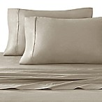 Stay Tuck 450-Thread-Count Cotton Sateen King Pillowcases in Taupe (Set of 2)
