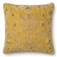 Loloi Rich Viscose 22 Inch Square Throw Pillow In Citron